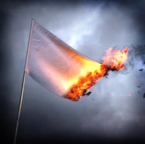 горящий флаг